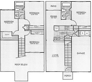 1,331 sq. ft. Trees/60% floor plan