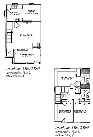 1,172 sq. ft. floor plan
