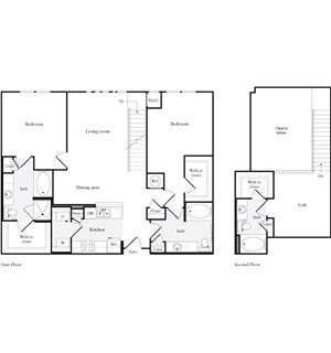 1,573 sq. ft. B4 floor plan