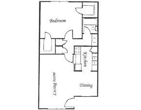 685 sq. ft. floor plan