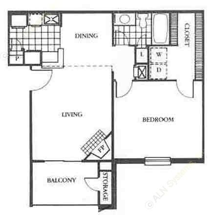 703 sq. ft. Wimberly floor plan
