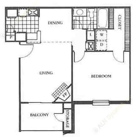 703 sq. ft. Wimberly floor plan