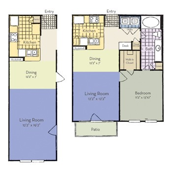 696 sq. ft. Van Alstyne - A2 I floor plan
