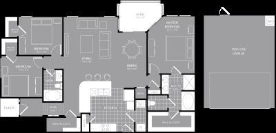 1,537 sq. ft. C2 floor plan