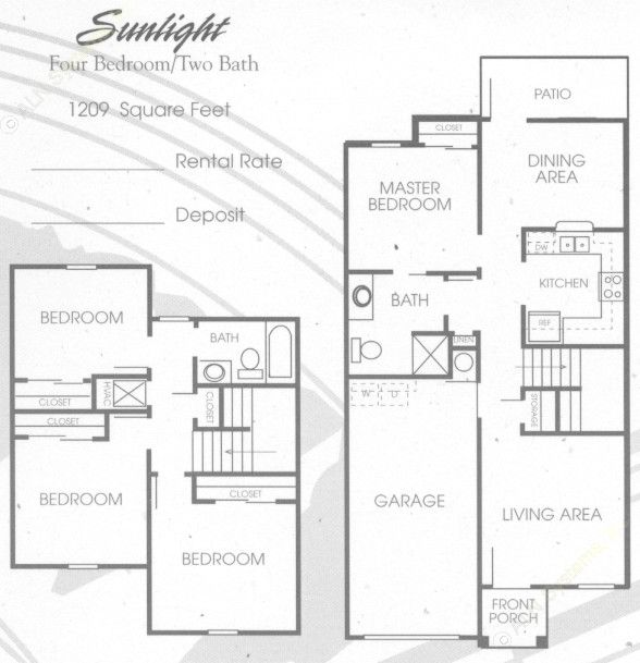 1,209 sq. ft. 50% floor plan