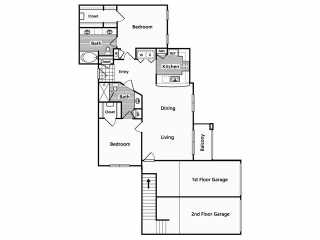 1,214 sq. ft. EG2,EG4 floor plan