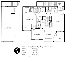 1,275 sq. ft. G floor plan