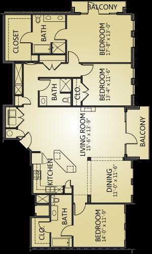 1,975 sq. ft. C2 floor plan
