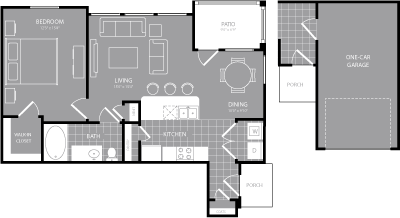 775 sq. ft. to 823 sq. ft. A4 floor plan
