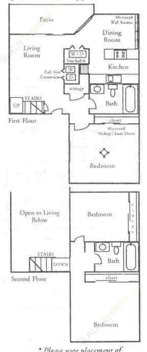 1,247 sq. ft. C1 floor plan