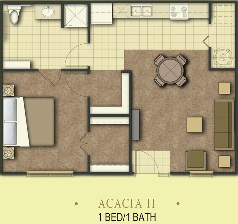 700 sq. ft. Acacia/60% floor plan