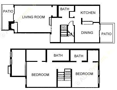 1,124 sq. ft. floor plan