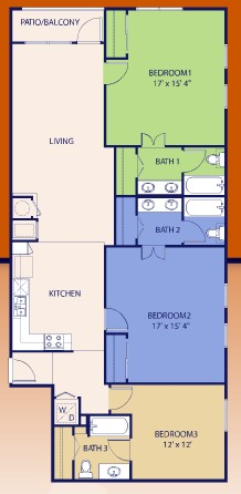 1,565 sq. ft. Trey floor plan