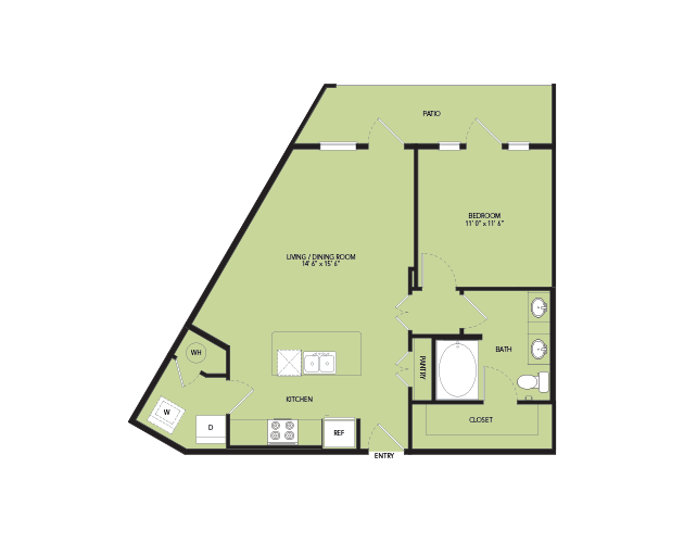 761 sq. ft. A7 floor plan