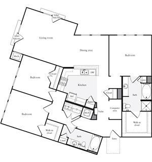 1,547 sq. ft. C2.2 floor plan