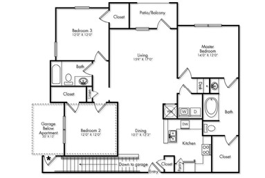 1,567 sq. ft. C1G floor plan