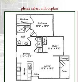841 sq. ft. C1 floor plan