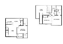 1,383 sq. ft. D floor plan