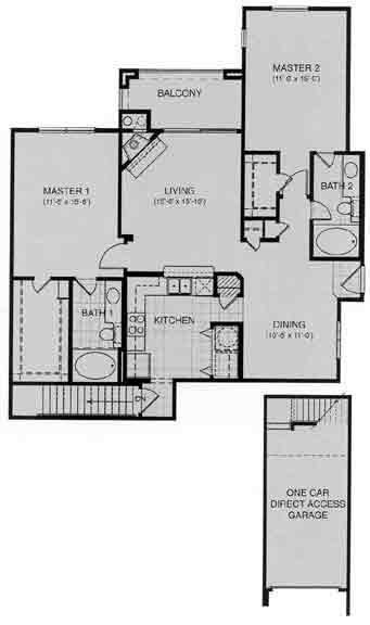 1,236 sq. ft. Breiten floor plan