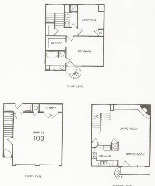 1,618 sq. ft. 104 Try-Level floor plan