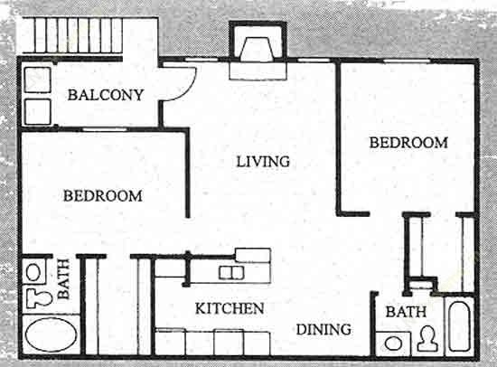920 sq. ft. B-1 floor plan