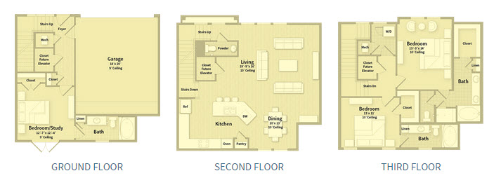 2,162 sq. ft. T1A floor plan