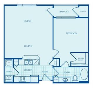 823 sq. ft. Brenton floor plan