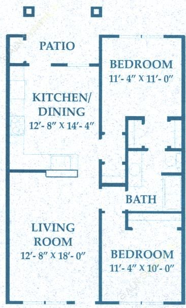 880 sq. ft. B1/50% floor plan