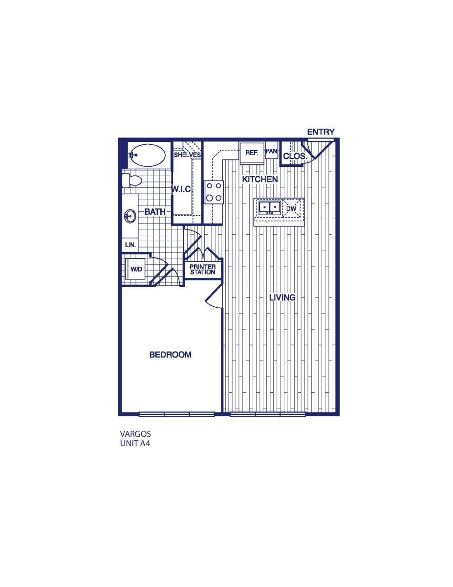 811 sq. ft. A4 floor plan
