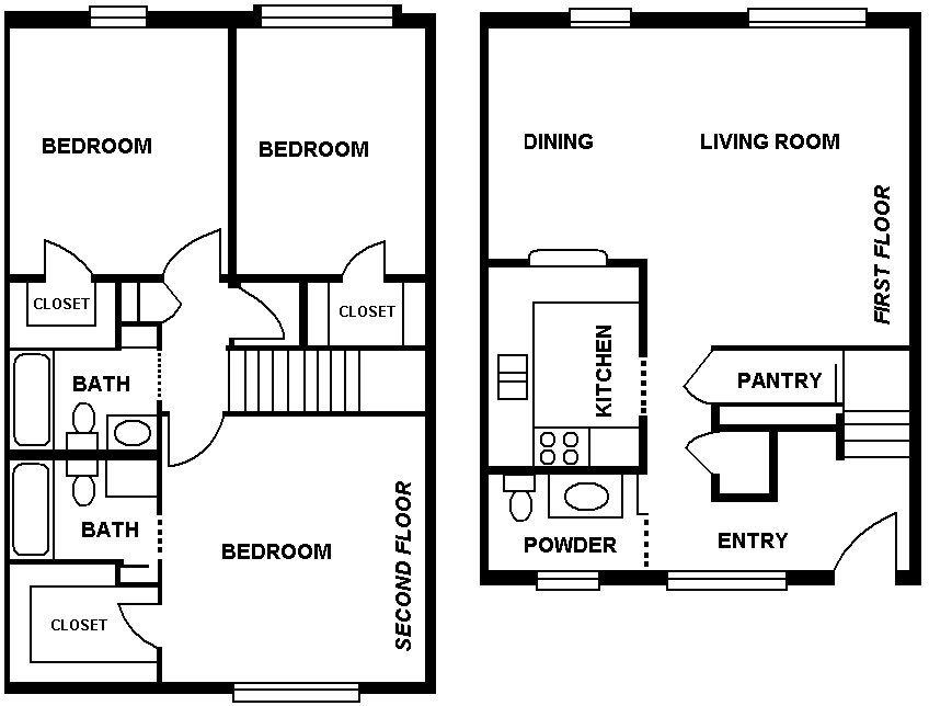 1,452 sq. ft. floor plan