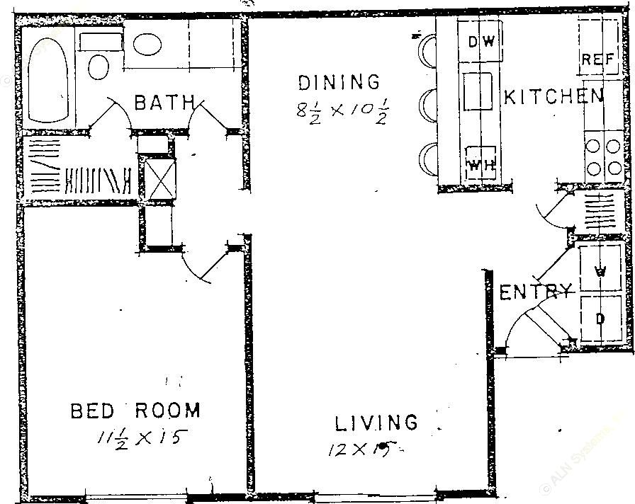 683 sq. ft. floor plan