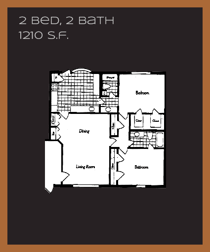 1,210 sq. ft. M floor plan