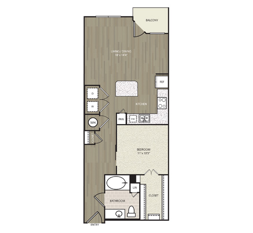 739 sq. ft. A12 floor plan