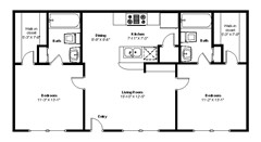 866 sq. ft. C floor plan