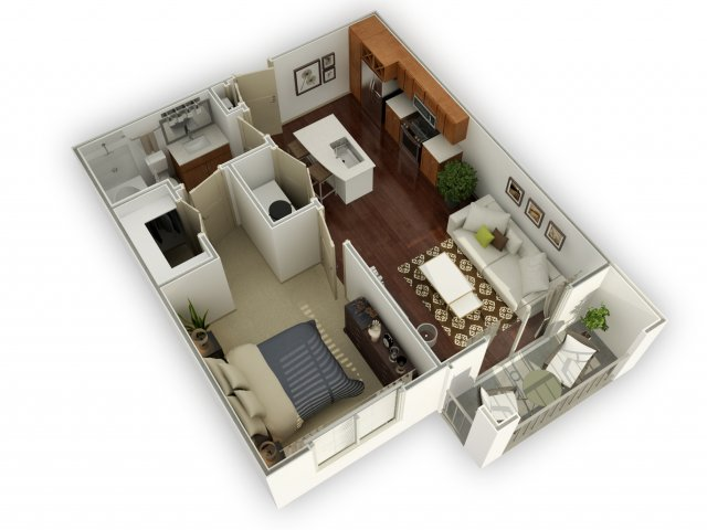624 sq. ft. A1 alt 2 floor plan