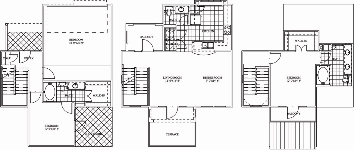1,434 sq. ft. TH2 floor plan