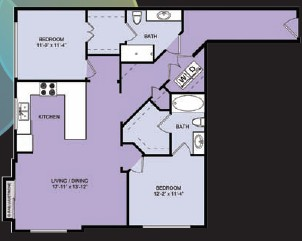 1,181 sq. ft. B7 floor plan