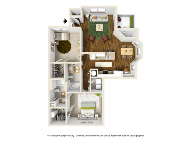 1,215 sq. ft. Kerrville floor plan