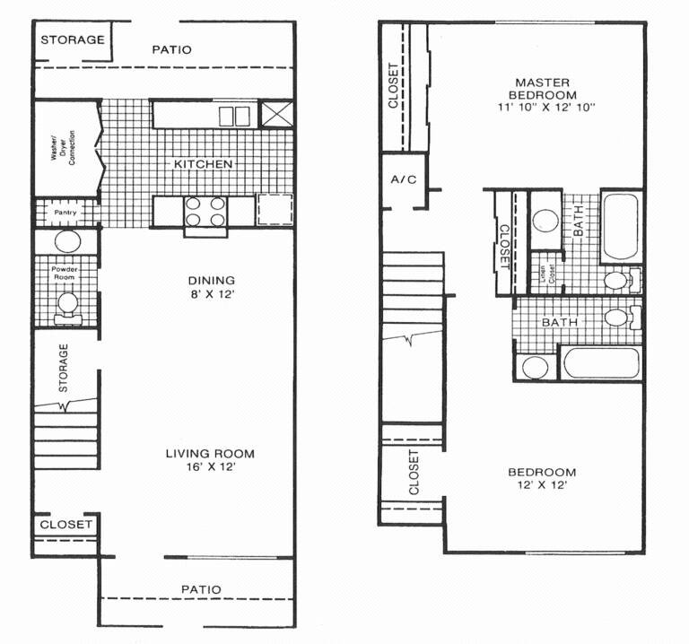 1,177 sq. ft. F floor plan