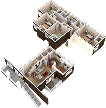 1,418 sq. ft. floor plan