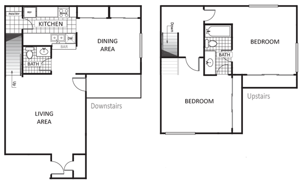 1,248 sq. ft. Cypress floor plan