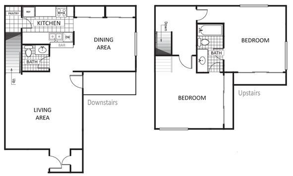 1,248 sq. ft. Cypress floor plan
