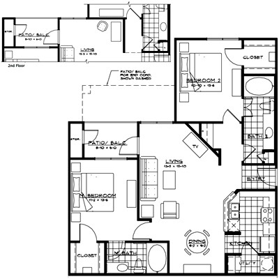 1,092 sq. ft. FLORENCE floor plan