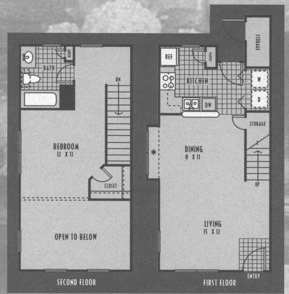 727 sq. ft. 50% floor plan