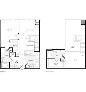1,121 sq. ft. A5 floor plan