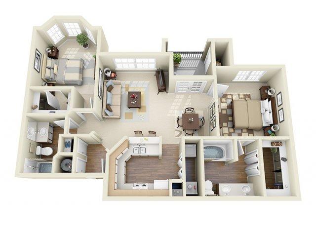 1,018 sq. ft. Tahoe floor plan