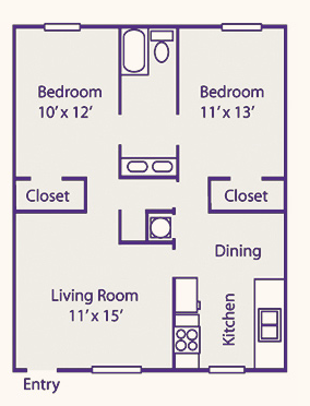 795 sq. ft. floor plan