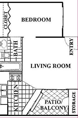 463 sq. ft. floor plan