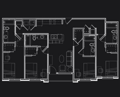1,302 sq. ft. D5 floor plan
