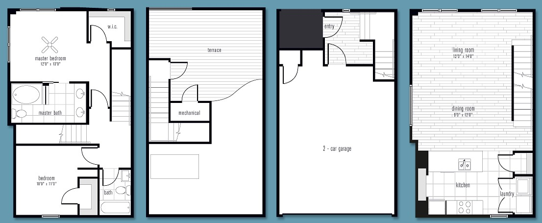 1,402 sq. ft. BB2 floor plan